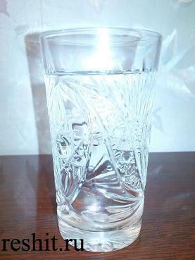вода в бокале
